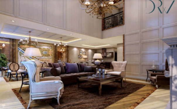 成都简欧风格客厅装修效果图