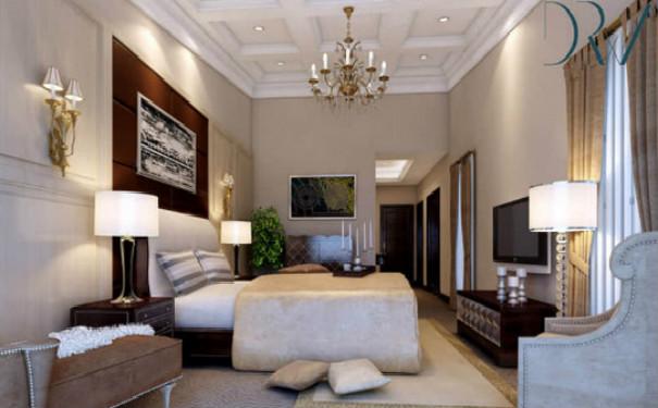 成都简欧风格卧室装修效果图