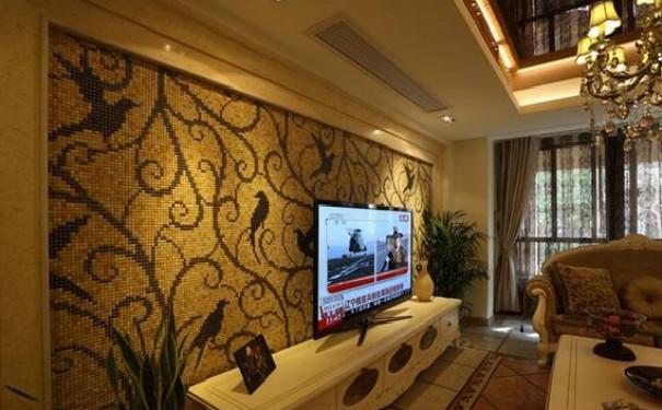 最新成都豪华客厅电视背景墙装修效果图欣赏