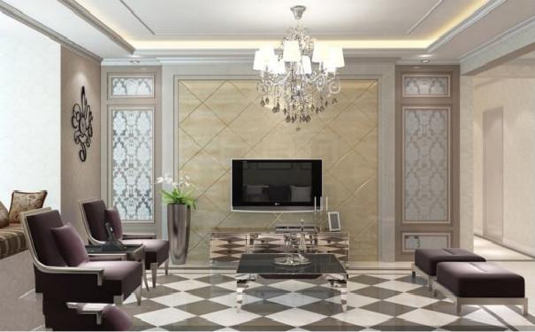 最新成都欧式客厅电视背景墙装修效果图欣赏