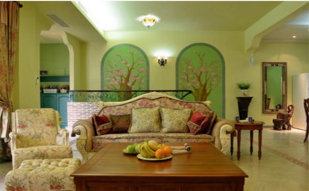 最新成都田园风格客厅装修效果图欣赏