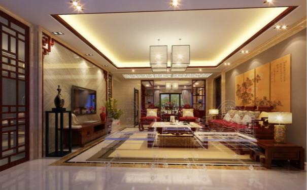 最新成都中式风格家庭客厅吊顶装修效果图欣赏