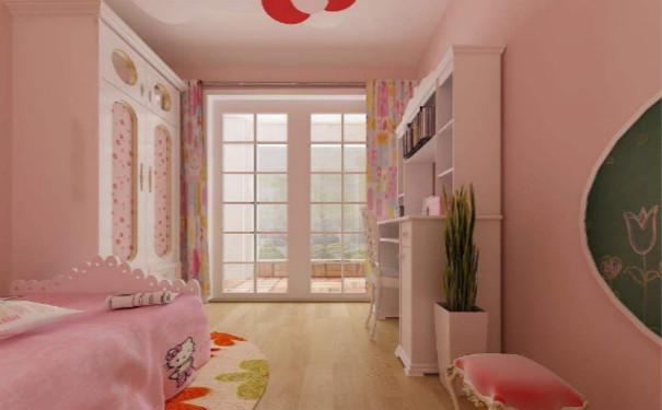 最新成都欧式田园风格儿童卧室装修效果图欣赏