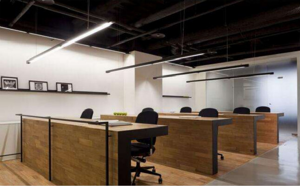 成都现代简约风格办公室吊顶装修效果图欣赏